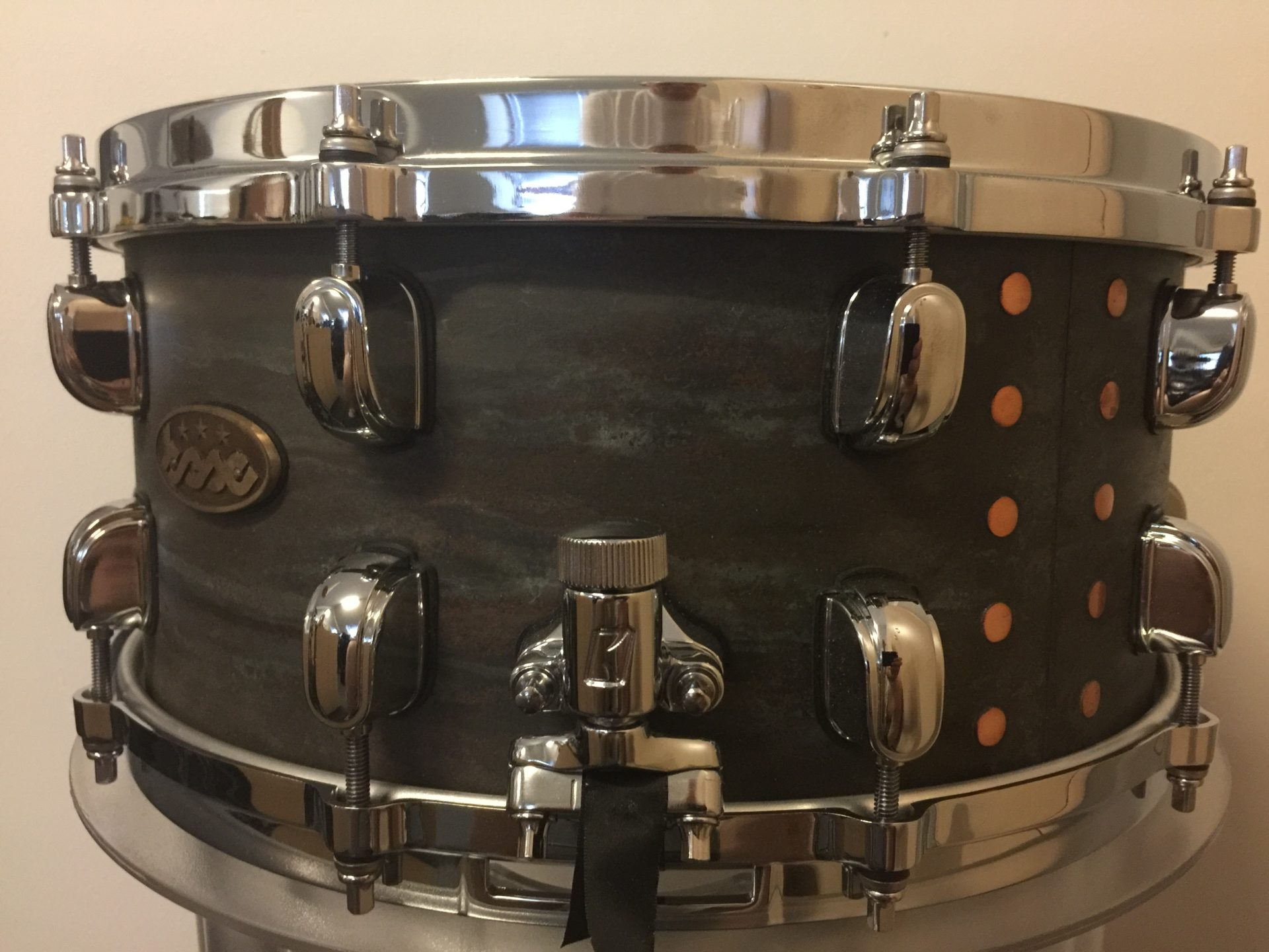 Copper snare 14x6,5 Dark Blue BESC