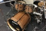 Tama Superstar Black Wrap into Satin Walnut