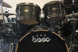 Drum Kit B/B Satin Black Finish