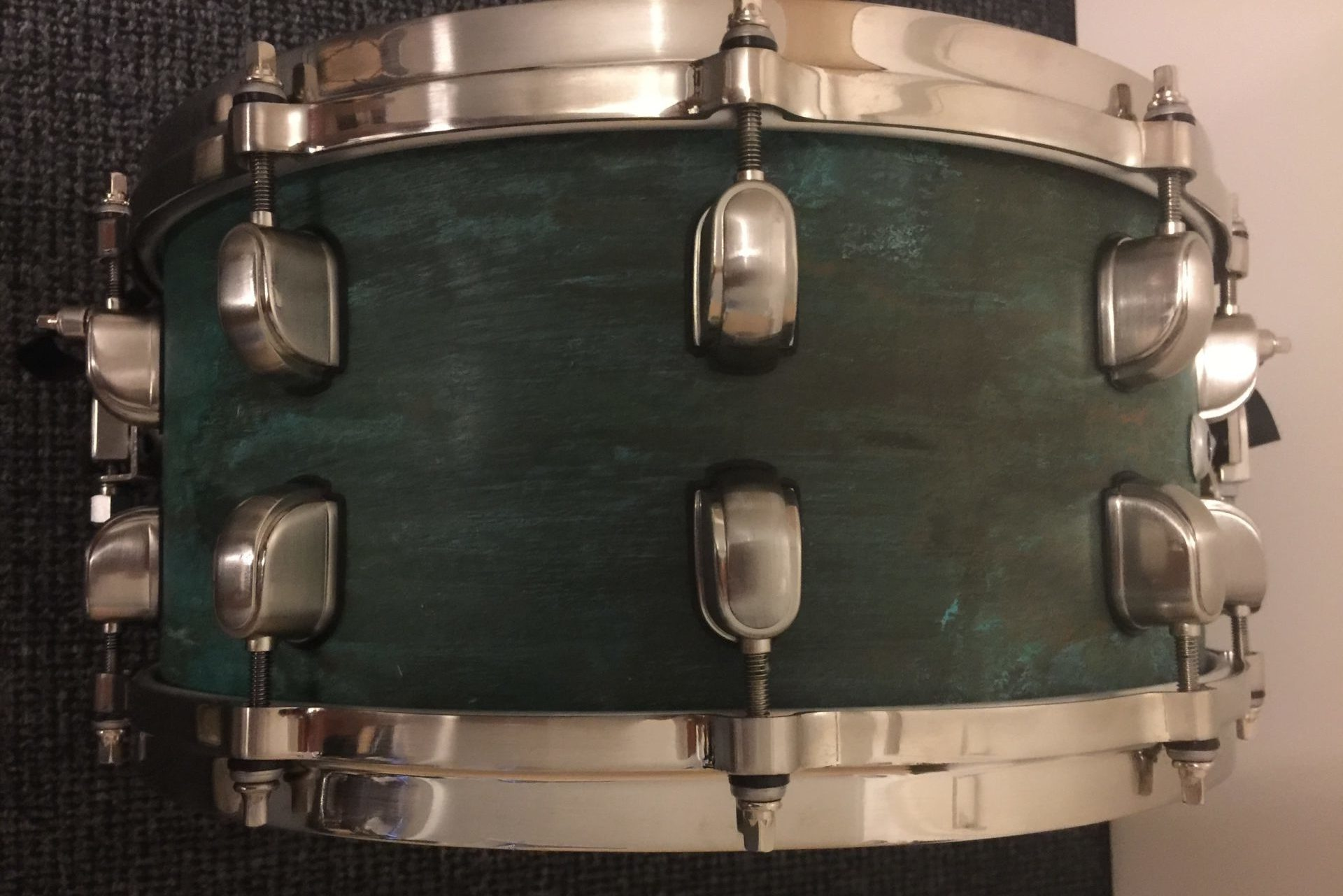 Copper snare Blue Green during Fabrication