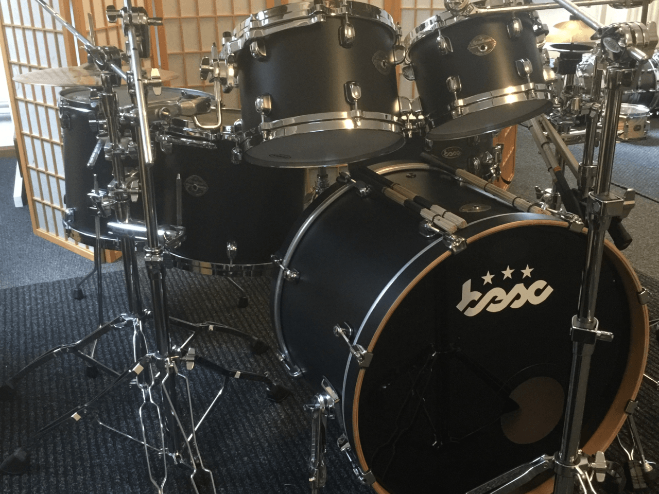 Drum Kit Bubinga Zwart BESC